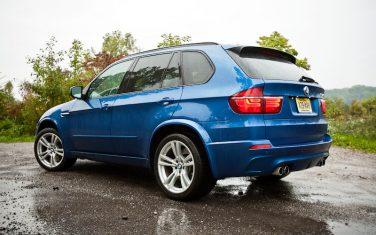 2012 BMW X5 M blue rear left