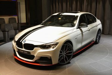 BMW F30 335i m performance white