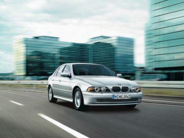 BMW E39 5 series silver