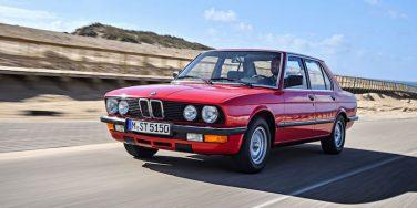 BMW E28 5 series euro red