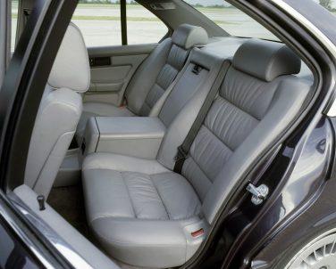 BMW E34 M5 rear seat interior