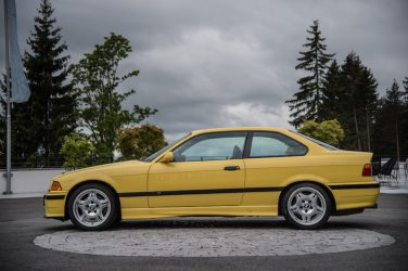BMW E36 M3 coupe dakar yellow
