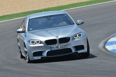 BMW F10 M5 track cornering