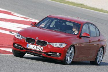 BMW F30 sedan, red