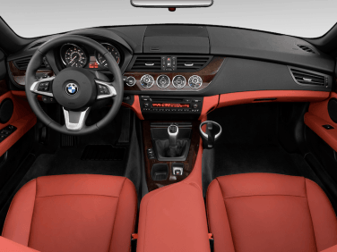 BMW Z4 roadster red interior