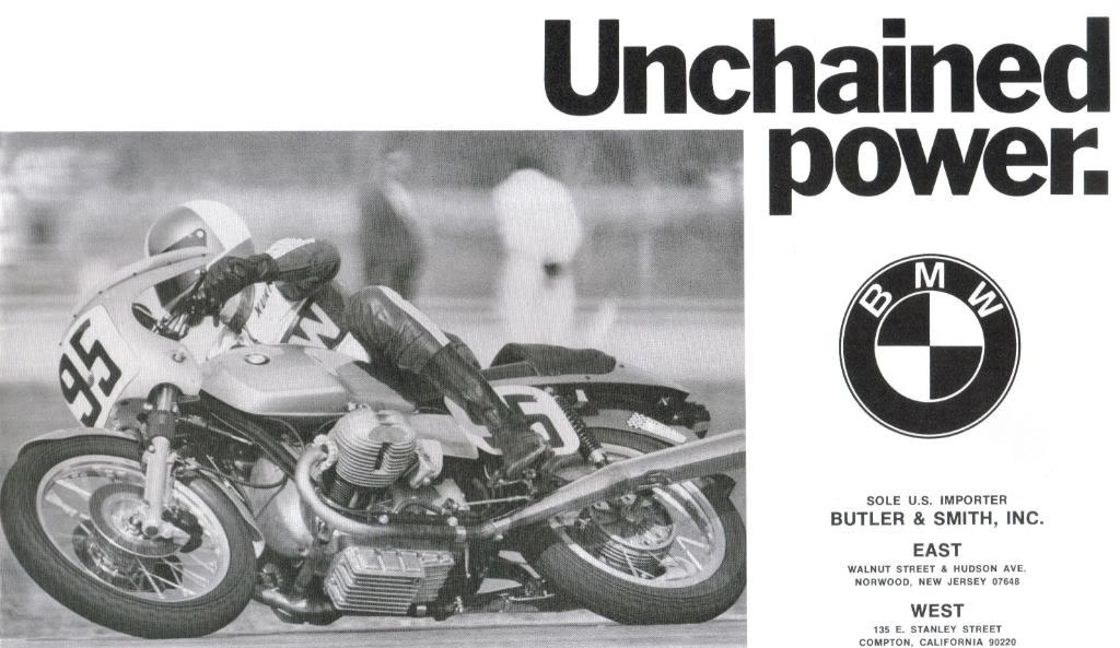 Vintage BMW motorcycle beamer ad