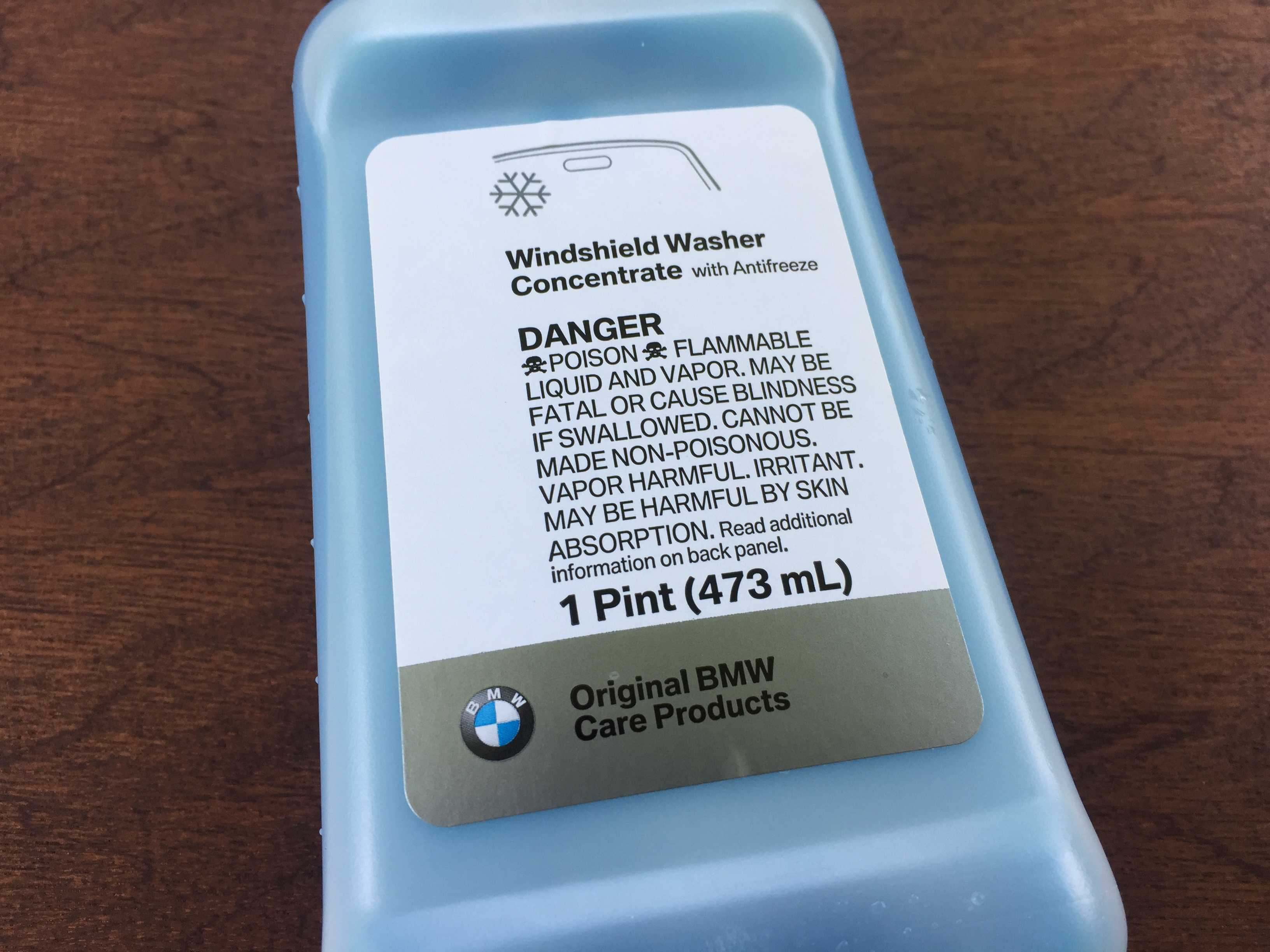 OEM BMW washer fluid