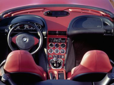 BMW M Roadster interior Red