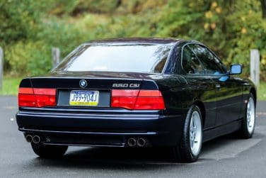BMW 850 CSi Rear quarter