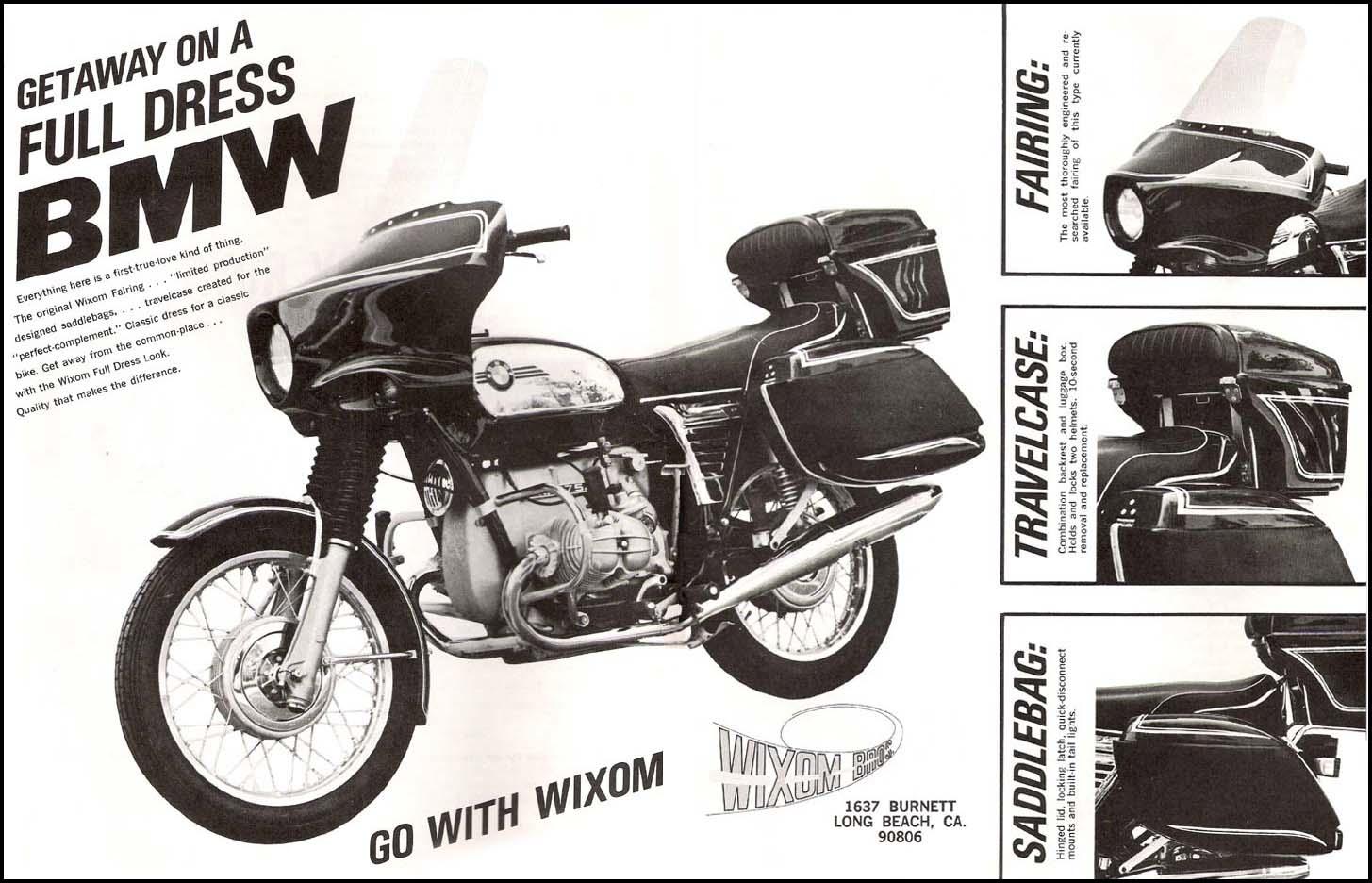 Vintage BMW motorcycle beamer