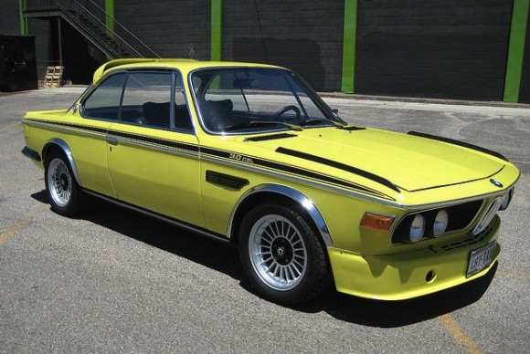 BMW E9 CSL Golf Yellow