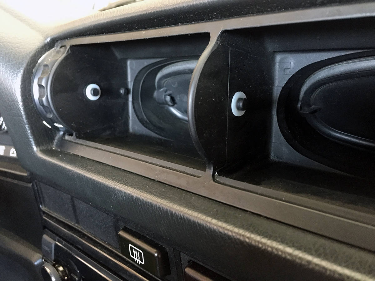 BMW E30 E34 sloppy vents fix