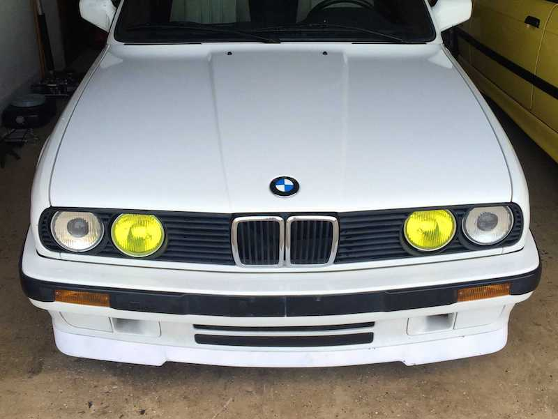 BMW E30 frenched yellow lights