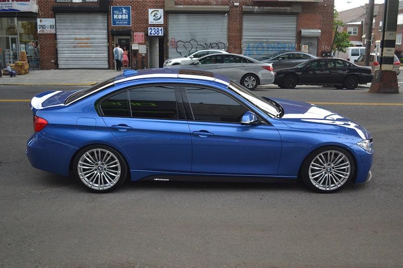 BMW F30 340i estoril blue