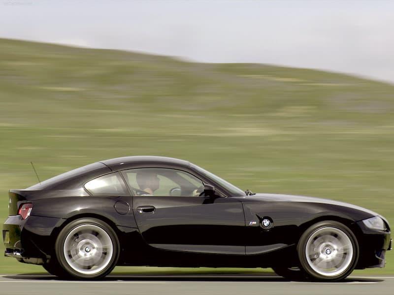 BMW E86 Z4 M Coupe Black Side View