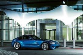 BMW E86 Z4 M Coupe Blue Side View