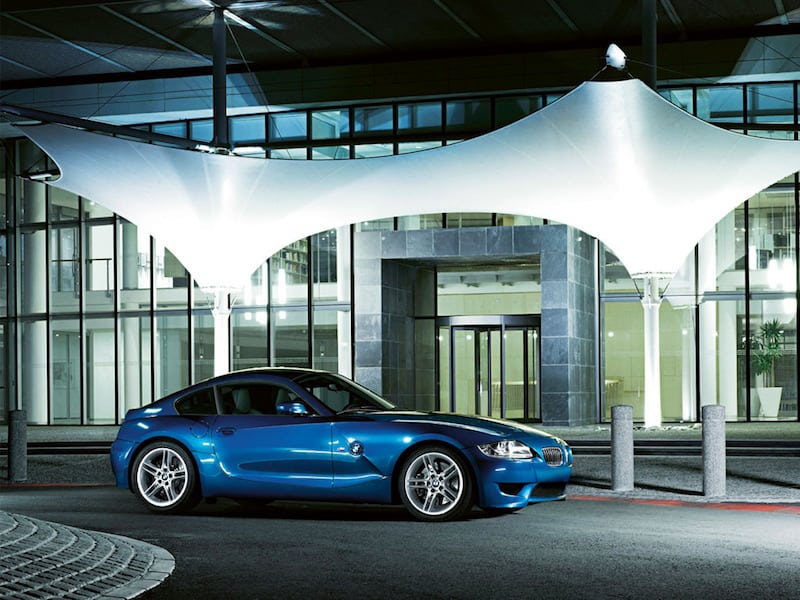 BMW E86 Z4 M Coupe Blue Side View