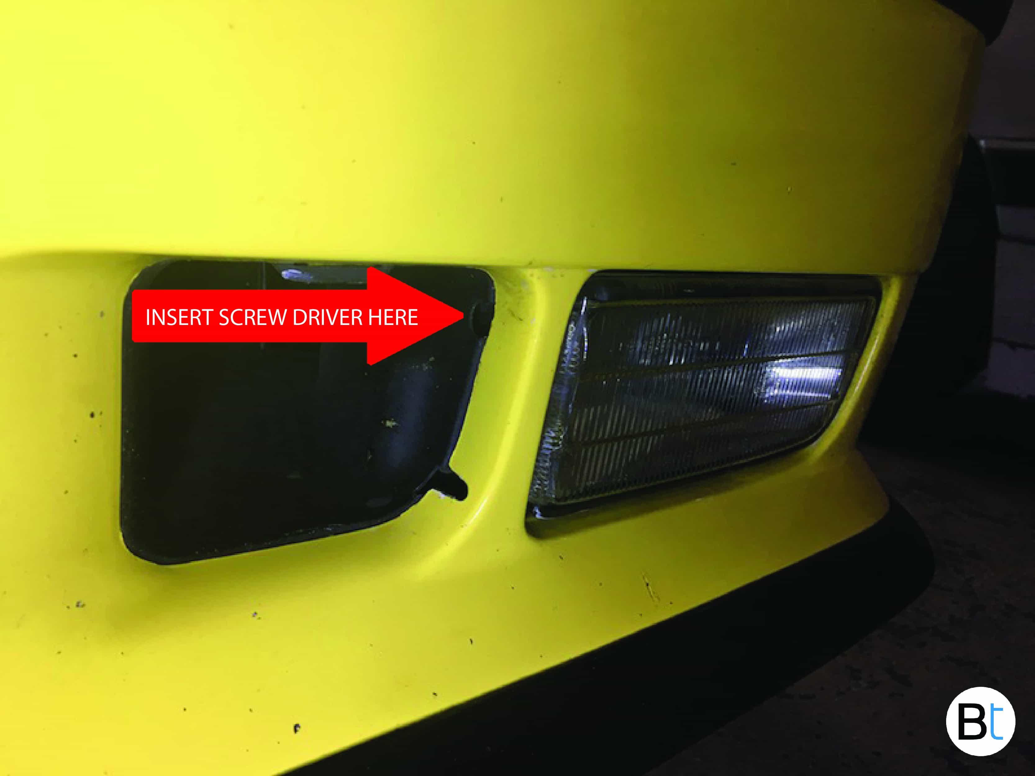 BMW foglamp removal
