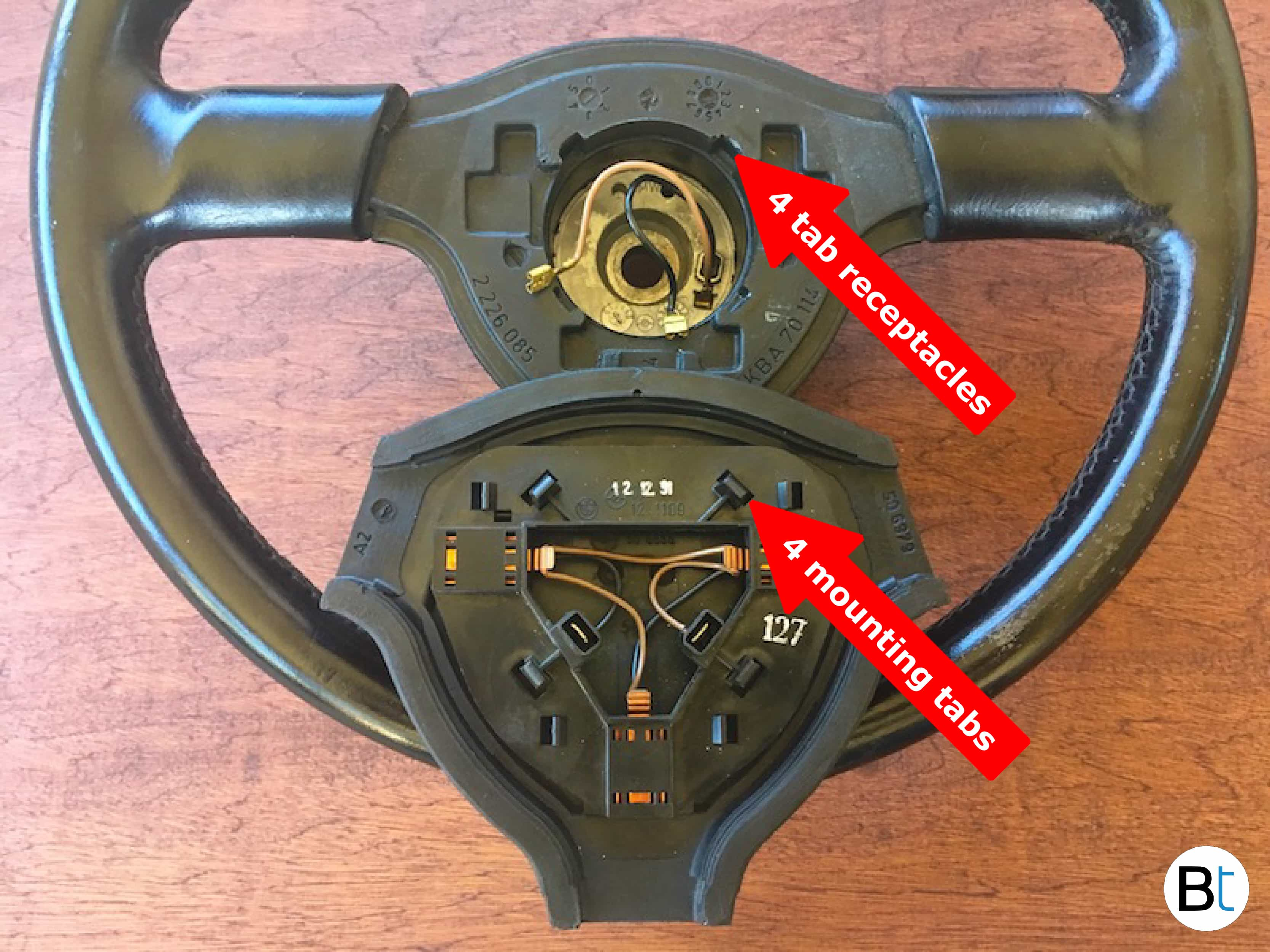 BMW steering wheel removal mtech 2