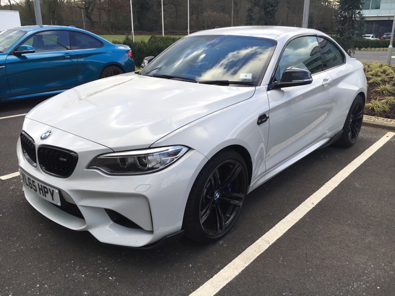 BMW M2 alpine white