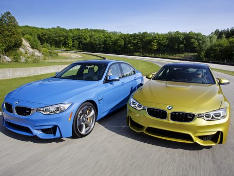 BMW M3 M4 Austin Yellow Marina Blue
