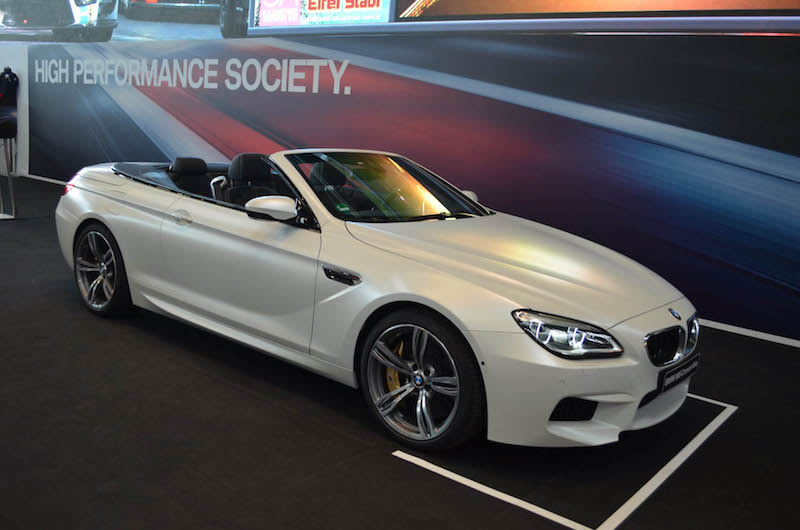 BMW F12 M6 cabrio Frozen White