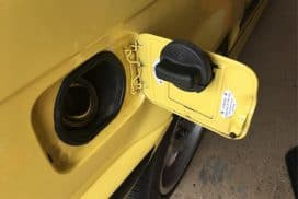 BMW gas / fuel cap holder