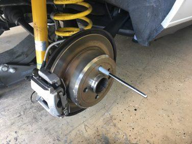 BMW E30 wheel alignment pin tool
