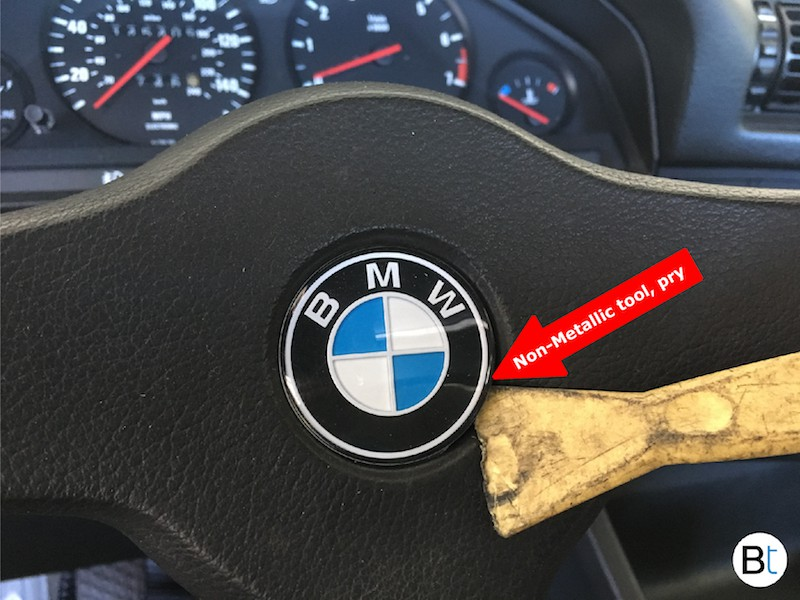 Windshield Replacement Cost >> BMW Non Airbag Steering wheel emblem / badge replacement - BIMMERtips.com
