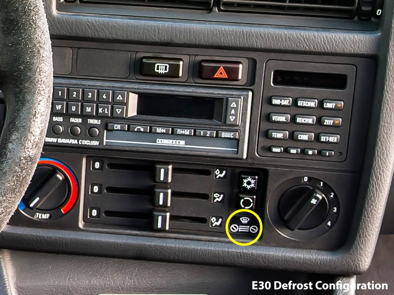 Bmw E30 E34 Windshield Defrost Configuration Settings