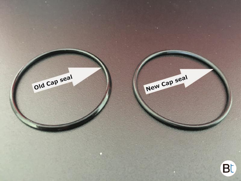 Power steering reservoir cap seal replacement, BMW ...