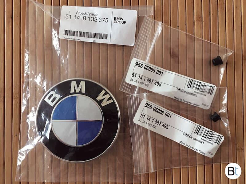 BMW hood roundel emblem removal procedure