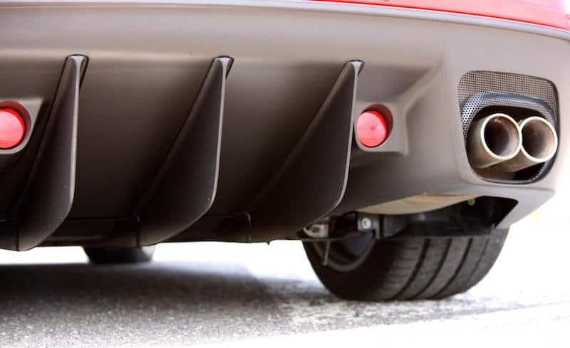 599 GTO rear diffuser