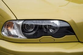 BMW E46 yellow headlight lens replacement