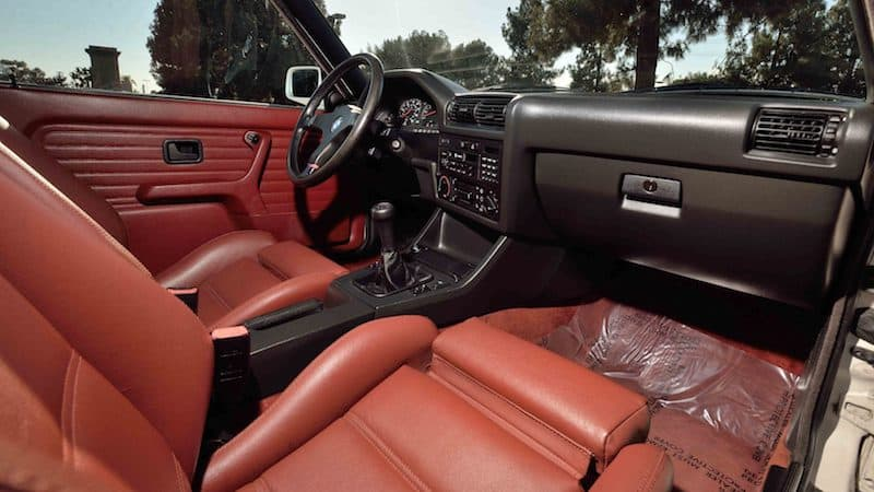 BMW E30 M3 interior cardinal red leather