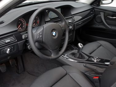 BMW e90 3 series interior manual black leather