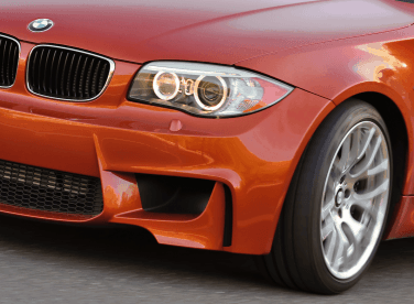 BMW 1M air curtains front bumper