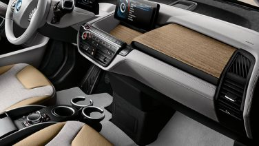 BMW i3 interior design recycle plastics
