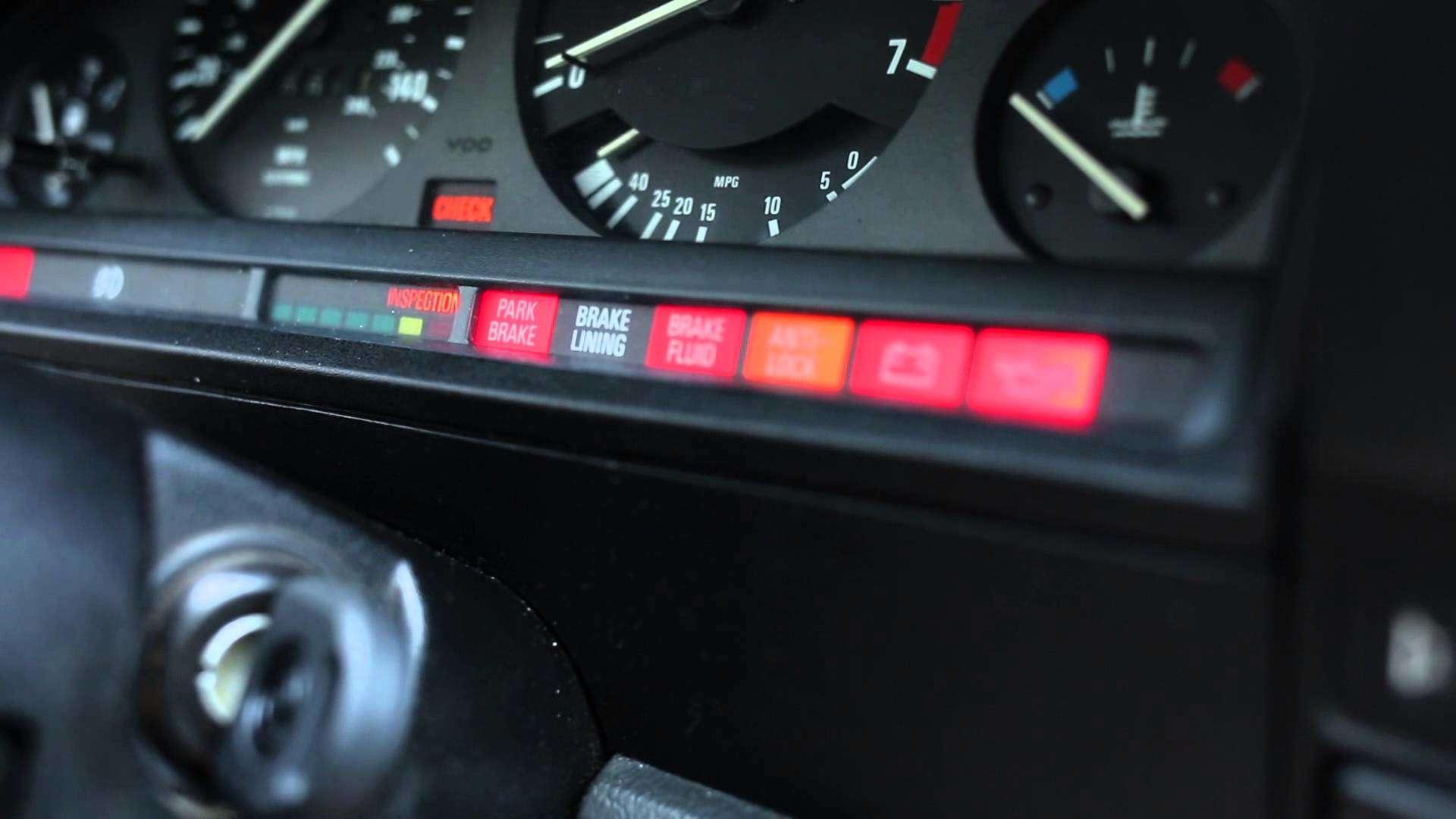 How To Reset E30 Oil Service Inspection Light Bimmertips Com