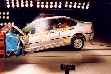 BMW E46 front crash