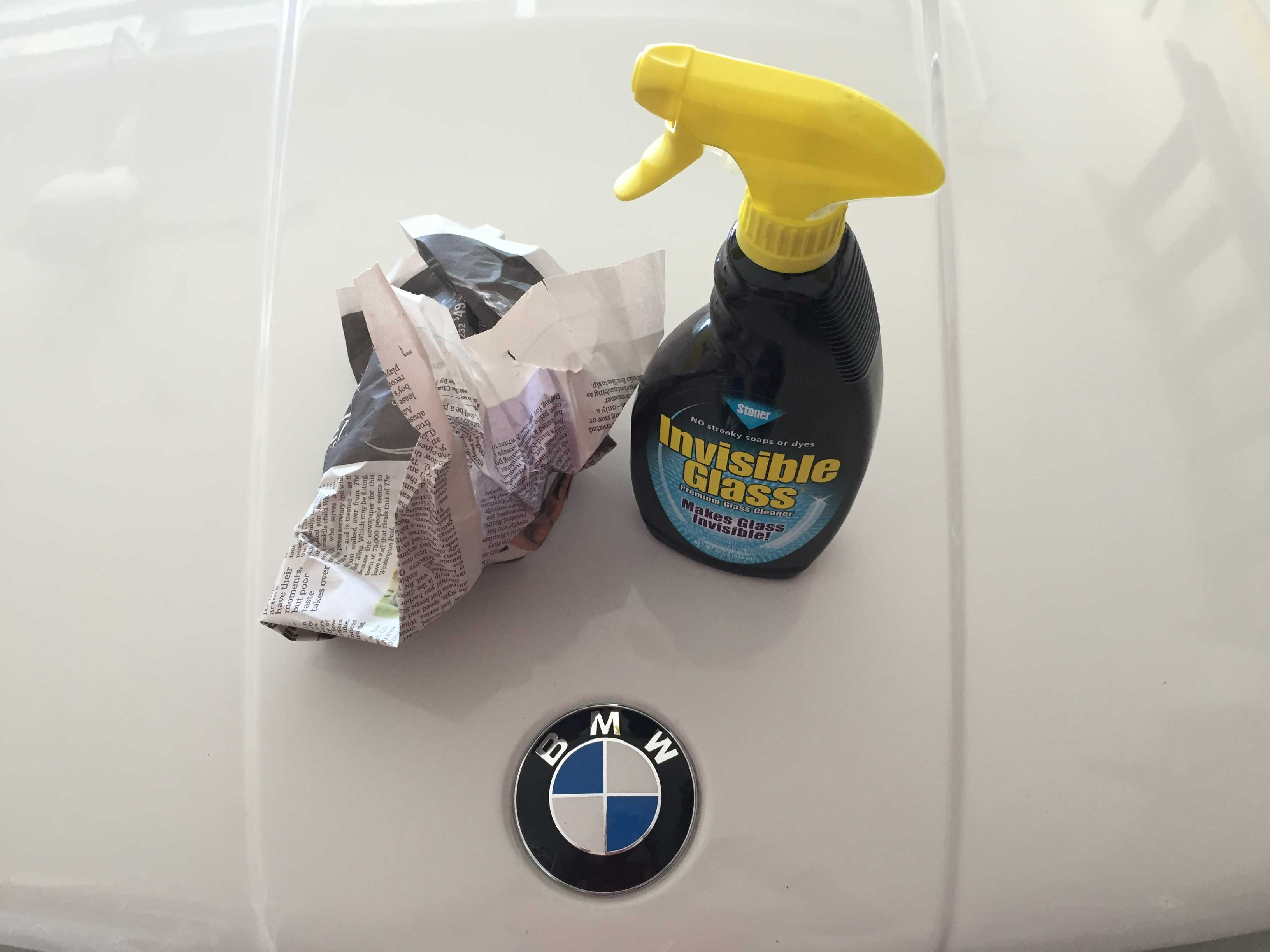 Invisible glass window cleaner BMW