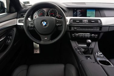 2013 BMW M5 Sedan interior manual transmission