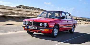 BMW E28 5 series euro red