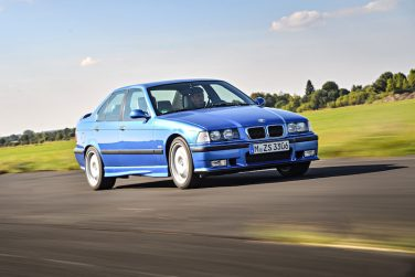 BMW E36 M3 sedan estoril blue