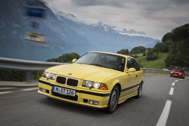 E36 M3 Dakar Yellow Coupe