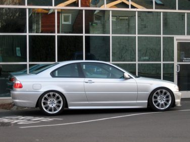 BMW E46 ZHP silver side view