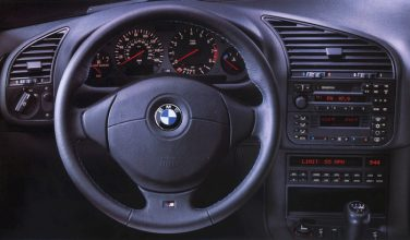 BMW E36 interior steering wheel 3 spoke