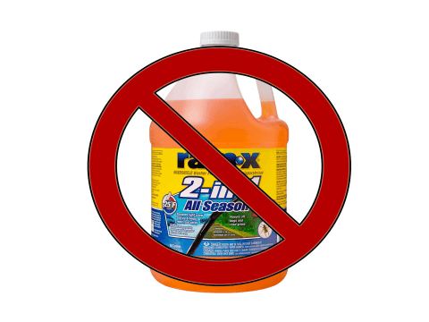 Don't use Rain-X washer fluid
