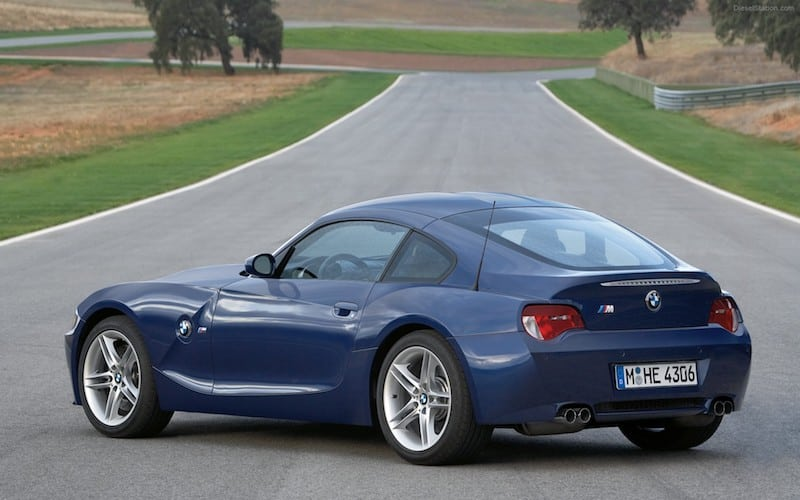 BMW E86 Z4 M Coupe Blue rear quarter