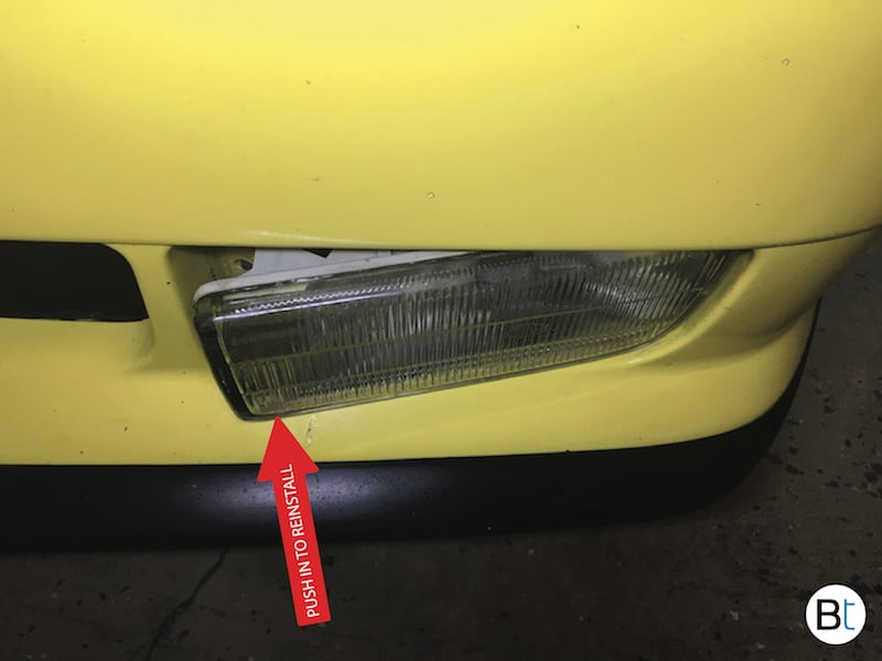 BMW Fog lamp removal